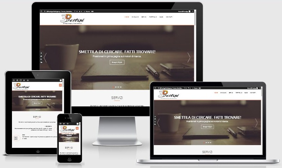 web design 3dprestige responsive design siti internet