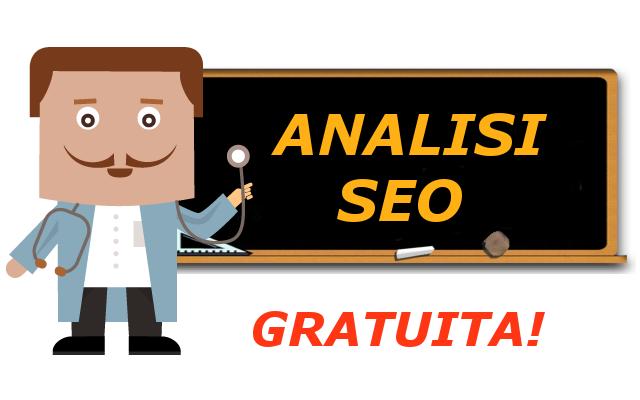 analisi seo gratuita per il tuo sito internet o blog