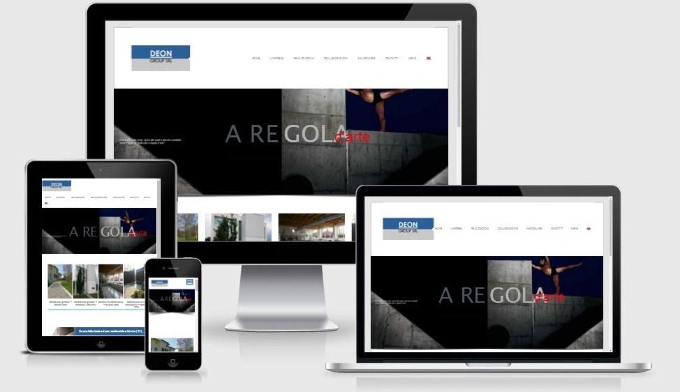 Progettazione e restyling sito web Deon Group, ottimizzato per il mobile e per i motori di ricerca