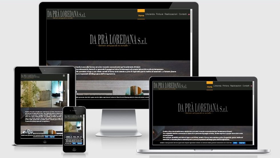Progettazione e realizzazione restyling sito web Da Prà Loredana Arte e Metallo, ottimizzato per i dispositivi mobili e per i motori di ricerca