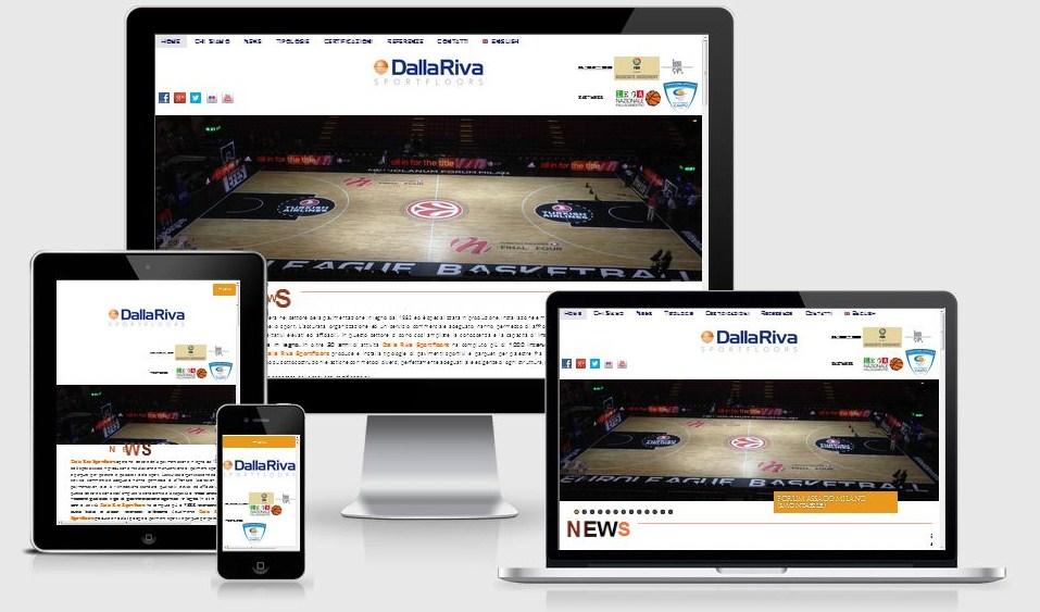 Progettazione e realizzazione restyling sito web Dalla Riva Sportfloors, ottimizzato per i dispositivi mobili e per i motori di ricerca
