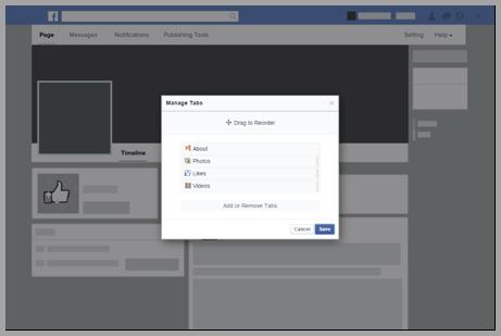 tabs personalizzate per pagina facebook
