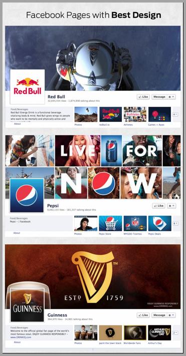 pagine facebook aziendali con il miglior design