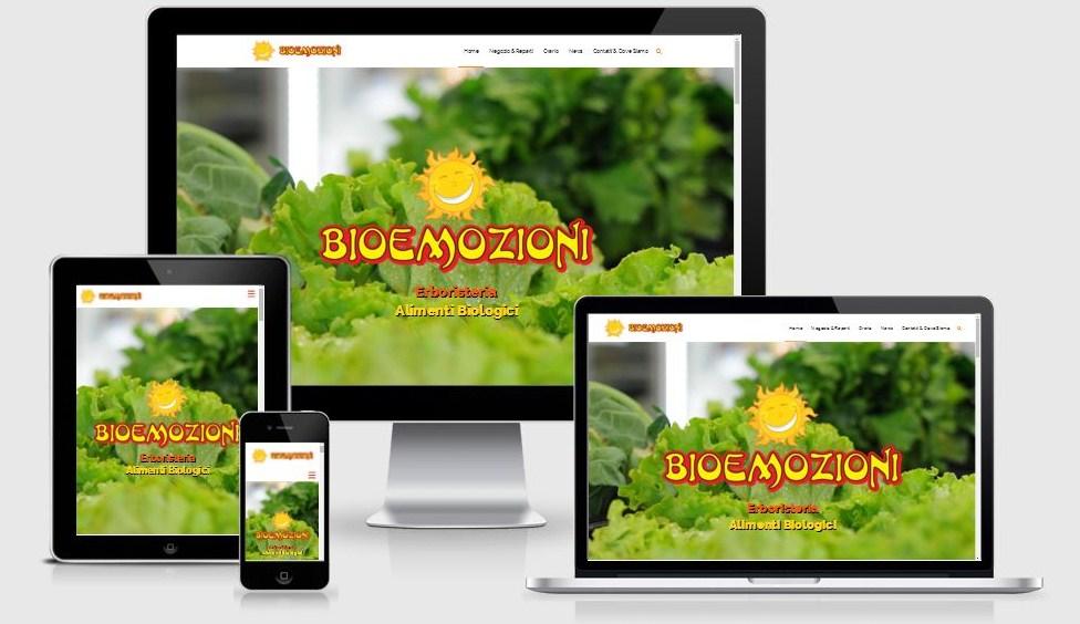 Progettazione e realizzazione nuovo sito web Bioemozioni, ottimizzato per il mobile e per i motori di ricerca