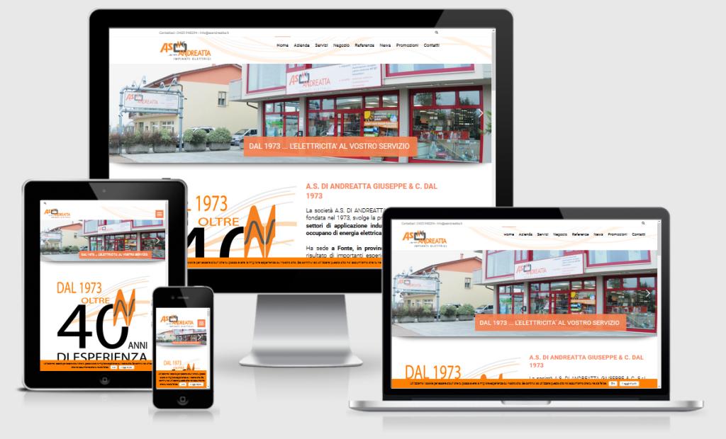Nuovo sito web AS Andreatta - Restyling del vecchio sito internet - 3DPrestige Web Agency