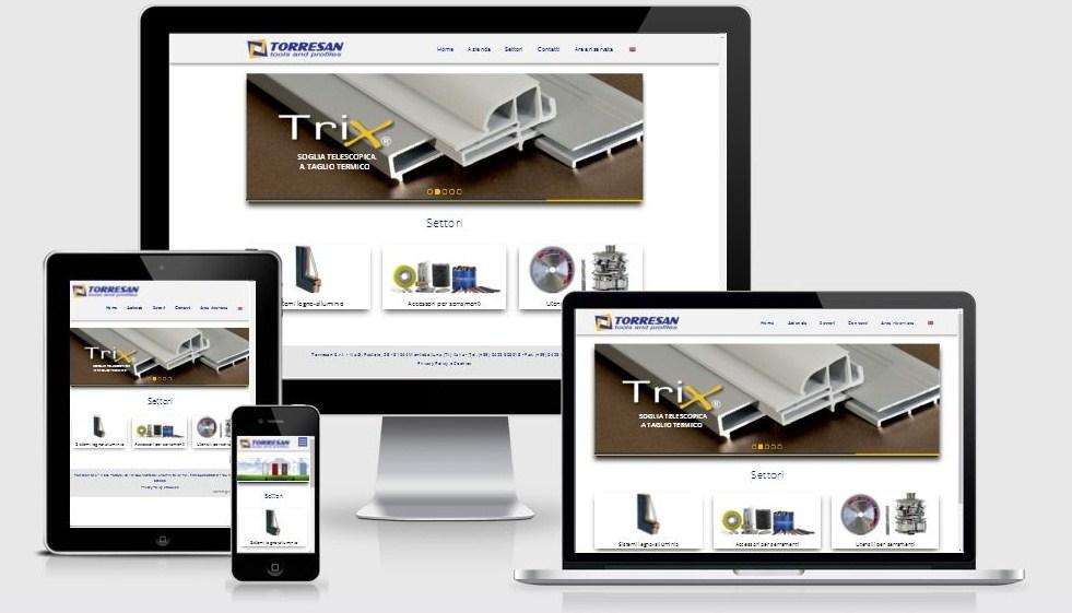 Restyling del sito web Torresan Tools & Profiles, azienda di Montebelluna (TV)