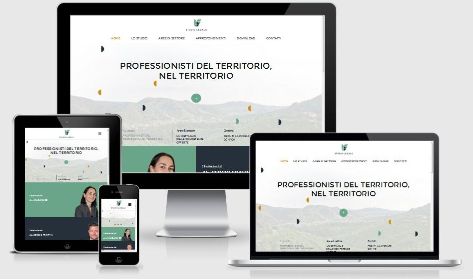 Sviluppo nuovo sito web studio legale buso frattin valdobbiadene responsive design