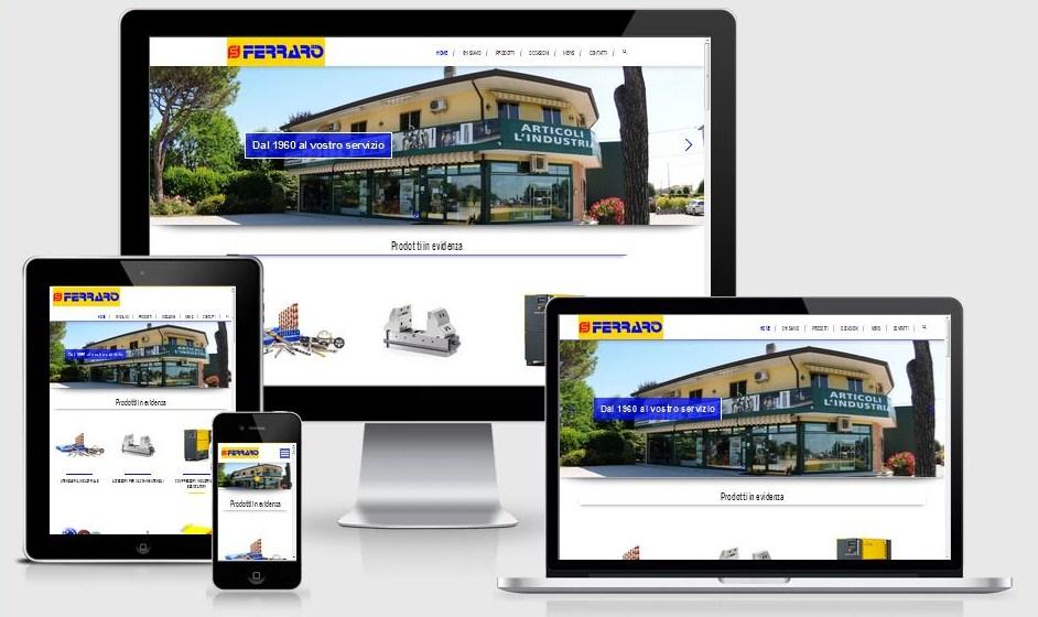 Restyling sito web Ferraro Utensili realizzato da 3DPrestige