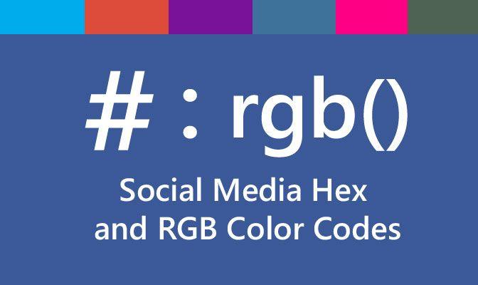 hex rgb social media colore logo