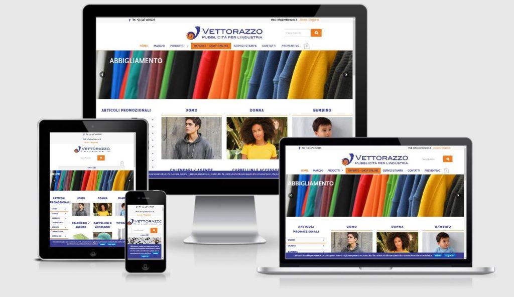 Nuovo sito web realizzato da 3DPrestige Studio Web: Vettorazzo Pubblicità