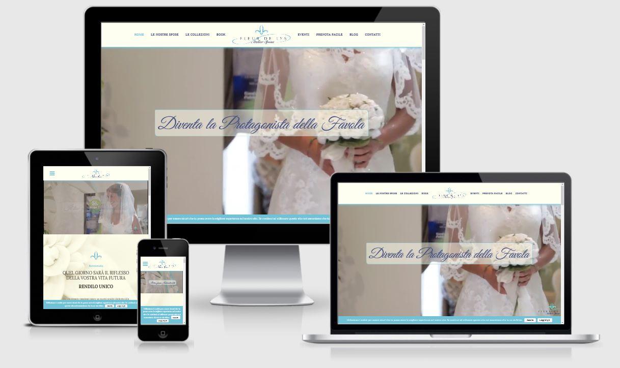 Nuovo sito web responsive design - Atelier Sposa Fleur de Lys - Treviso