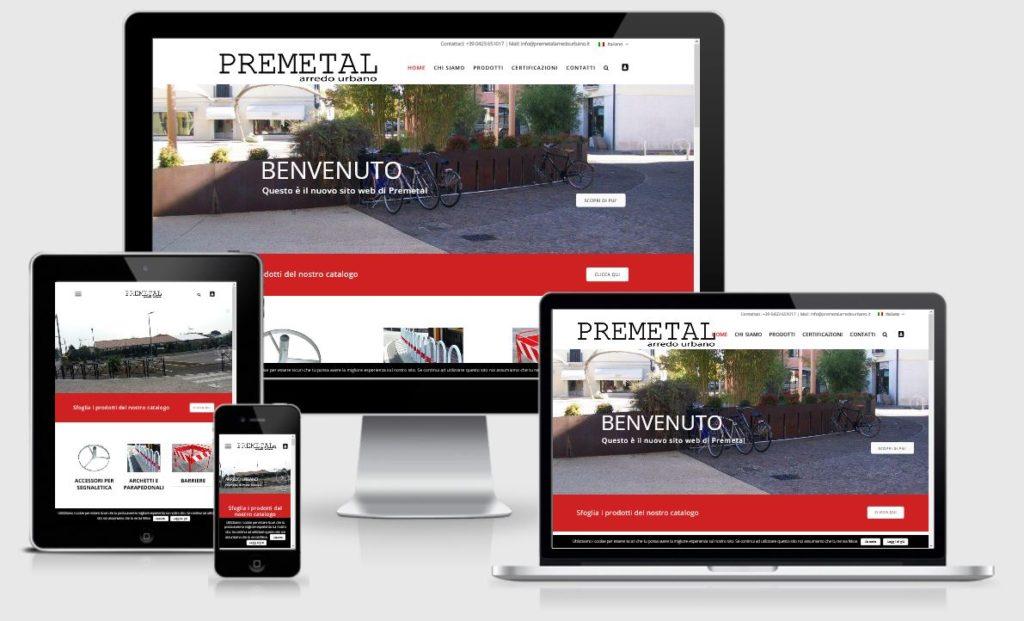 Progettazione nuovo sito internet Premetal in responsive design