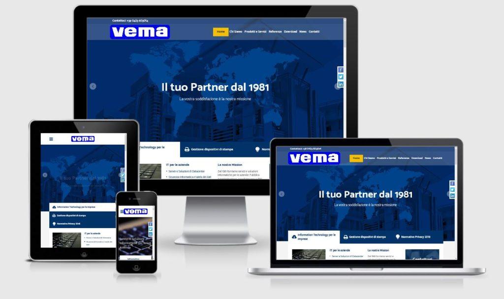 Realizzazione nuovo sito internet per Vema Srl Montebelluna