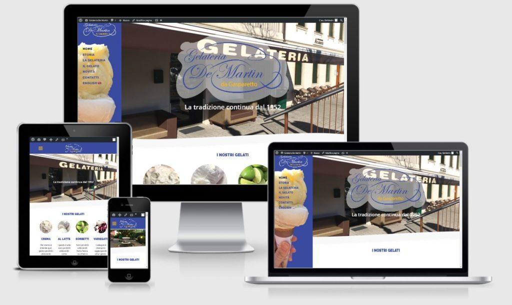 progettazione nuovo sito internet Gelateria De Martin Cordignano