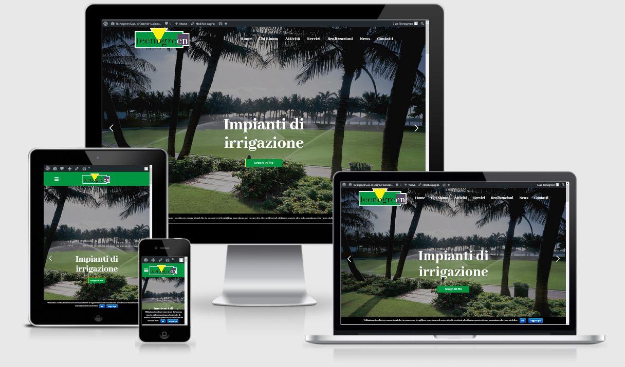 Progettazione, sviluppo e creazione sito web Tecnogreen Sas di Guarnier Luciano di Montebelluna (TV)