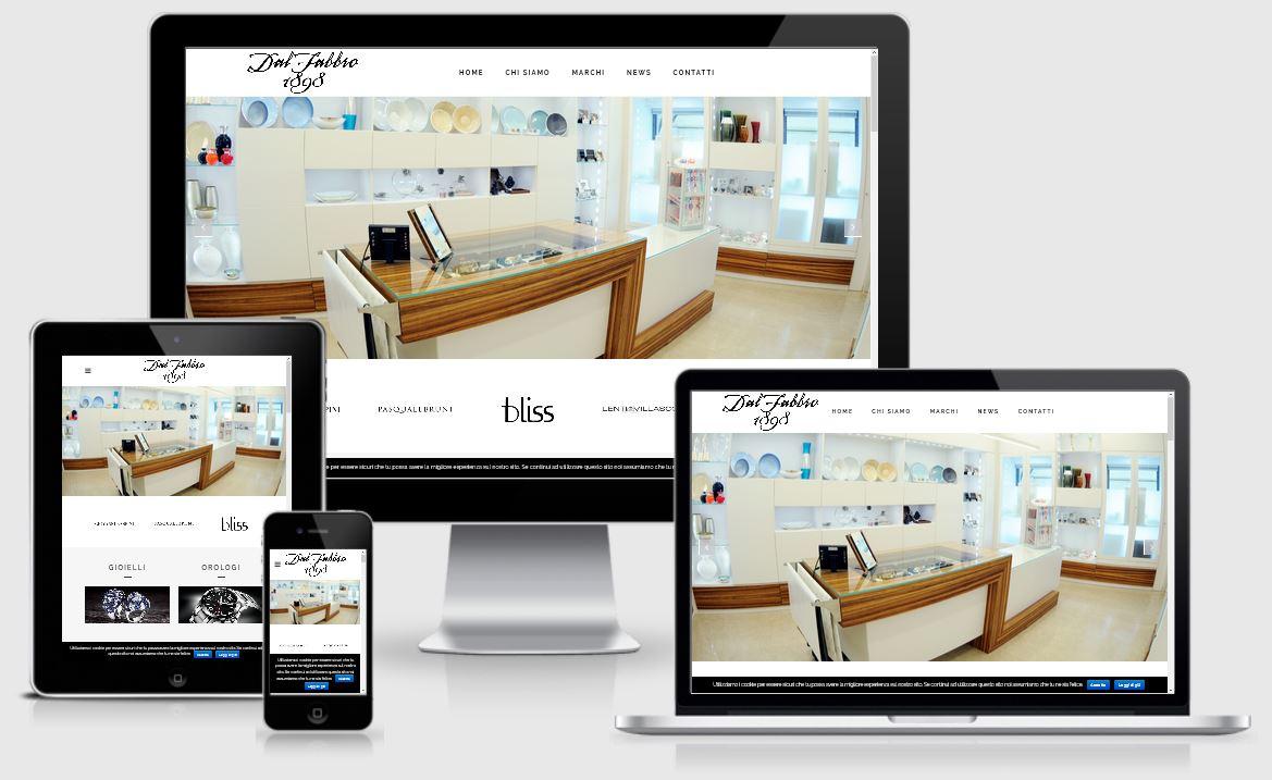 Realizzazione nuovo sito web Dal Fabbro Gioielleria Valdobbiadene Treviso