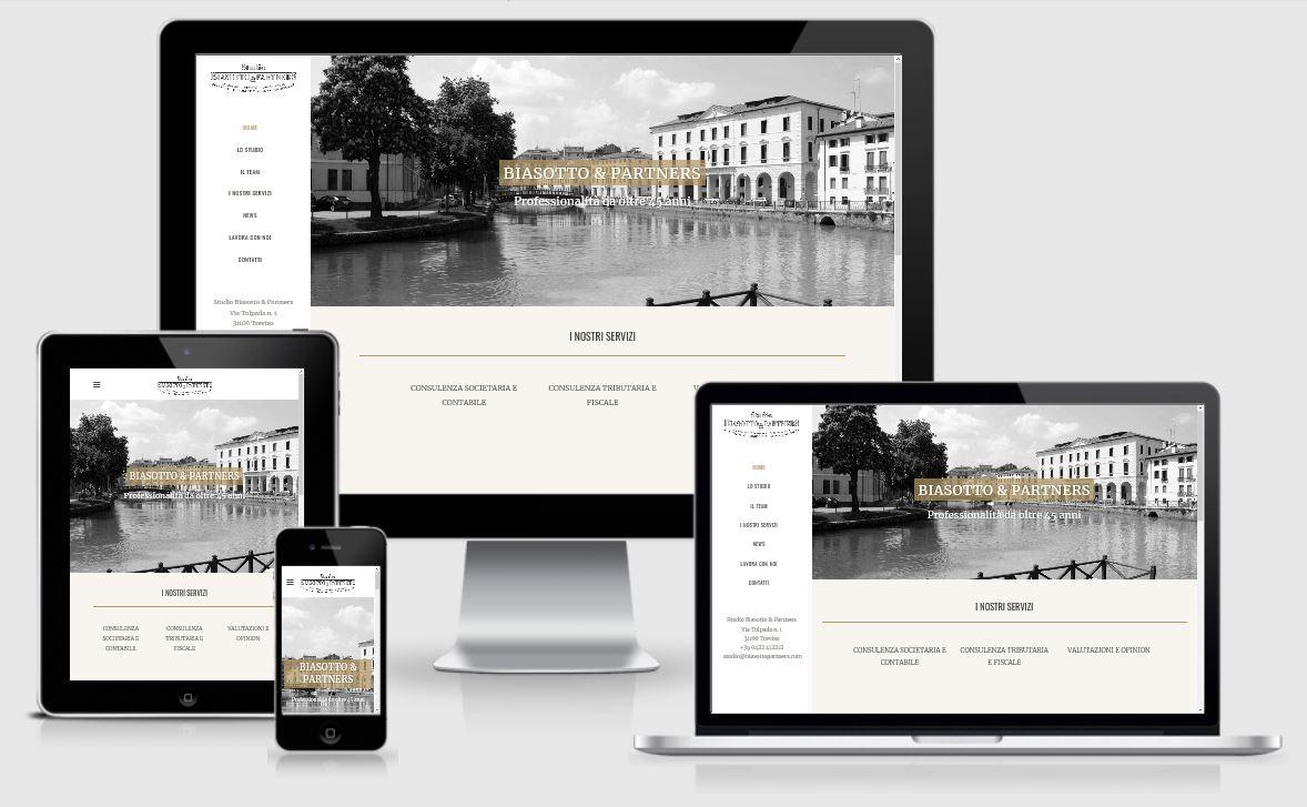 Progettazione e realizzazione restyling sito internet Studio Biasotto Commercialisti Treviso