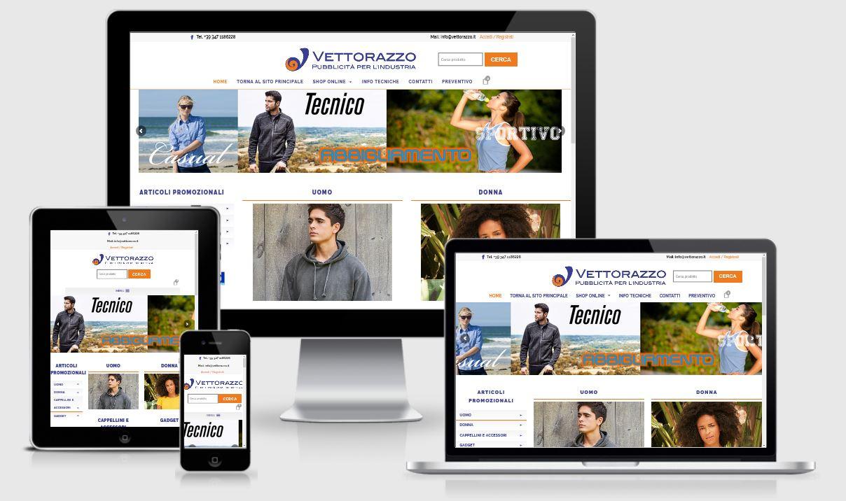 Vettorazzo Ecommerce Shop online articoli promozionali per l'industria
