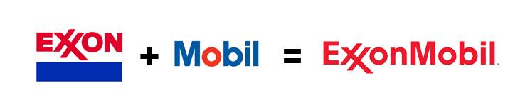 Logo Exxon Mobil fusione aziende nuovo logo