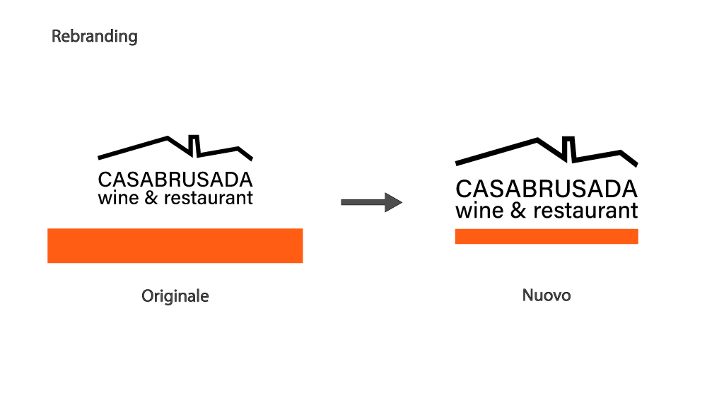 Restyling logo Casa Brusada