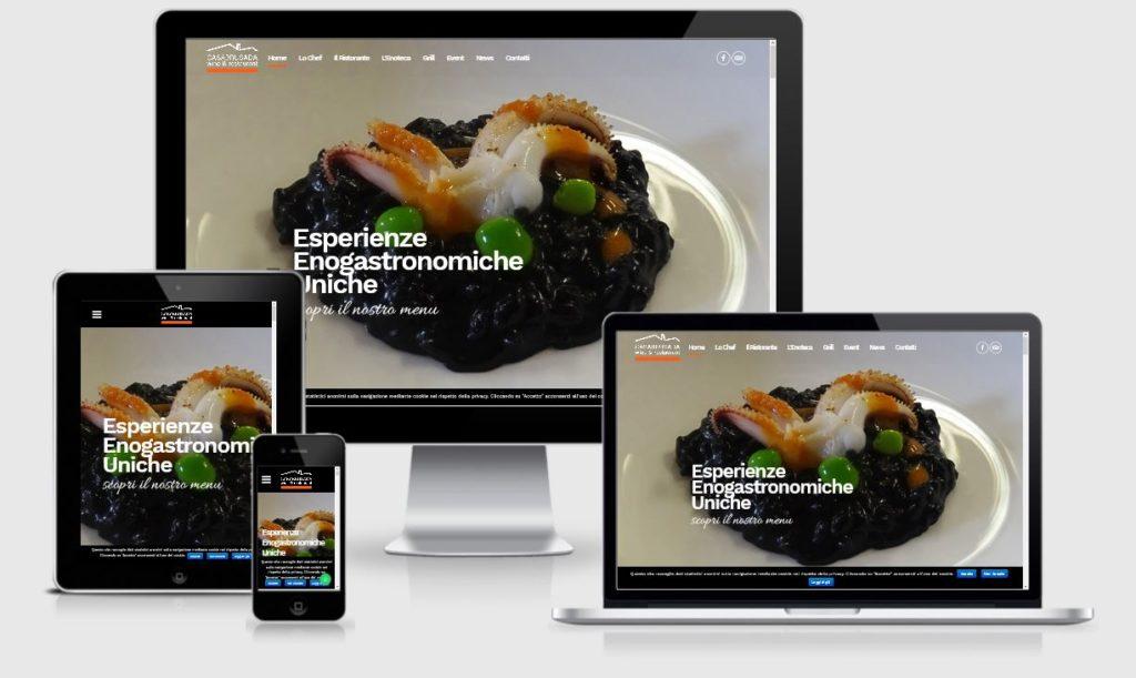 Casa Brusada Ristorante Crocetta del Montello: nuovo sito internet realizzato da 3DPrestige