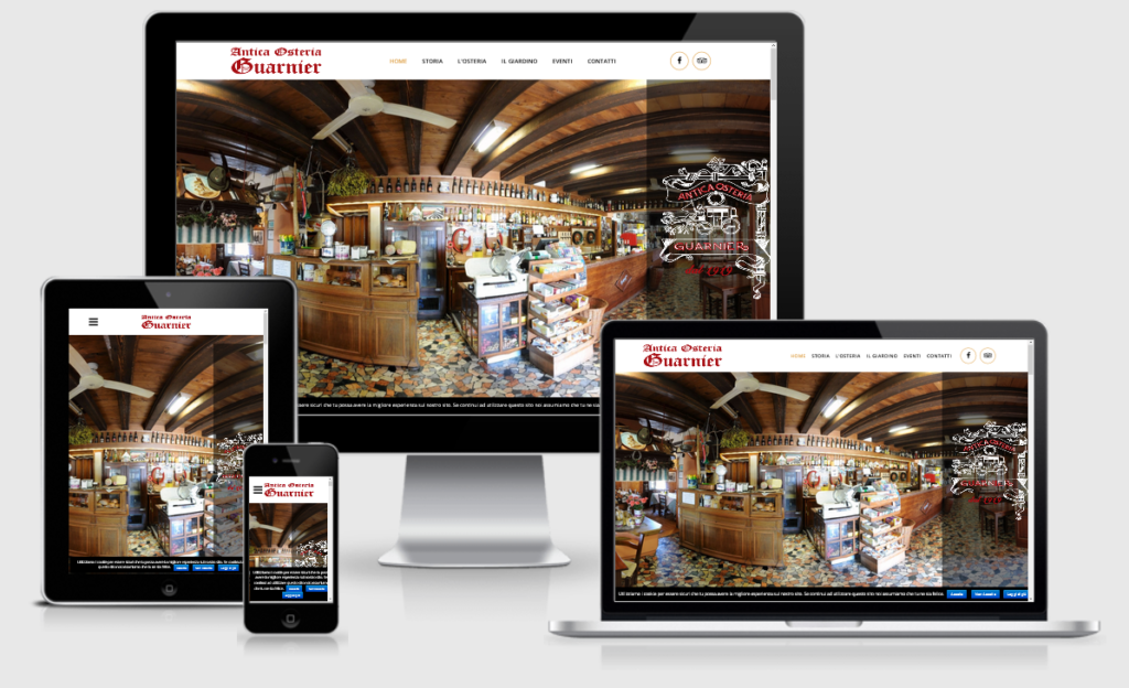 Nuovo sito web per l'Antica Osteria Guarnier di Crocetta del Montello (Treviso) in responsive design