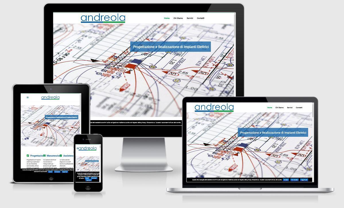 Nuovo sito web Andreola Elettroindustriale Srl Montebelluna Treviso in responsive design